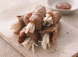 ウド巻き焼き肉