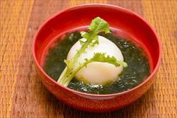 カブと生青のりのスープ
