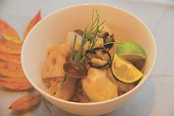 カキと冬野菜の炊き込みご飯